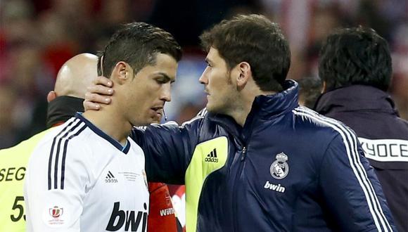 Iker Casillas y Cristiano Ronaldo compartieron en Real Madrid. (Foto: EFE)
