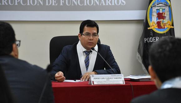 El juez Jorge Chávez Tamariz reprogramó la audiencia por pedido de prisión preventiva con el objetivo de que el Ministerio Público realice precisiones a su requerimiento y ante nuevos elementos de convicción. (Foto de archivo: Difusión)