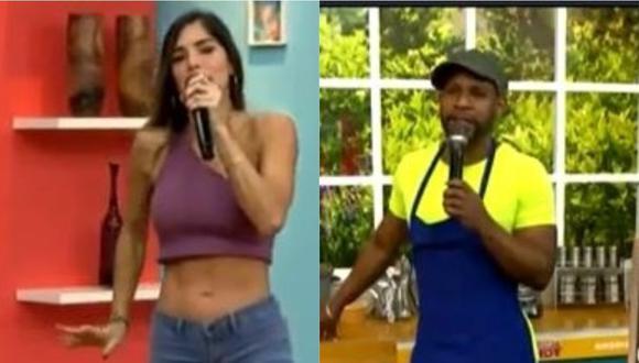 "Edson Dávila a Korina Rivadeneira por su delgadez: ""Cuando entró pensé que estaba parada de manos"". (Foto: captura de video)"
