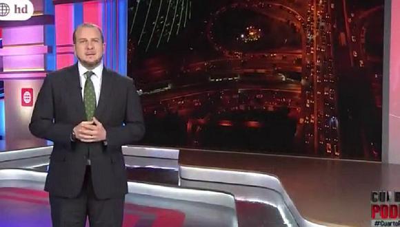 Augusto Thorndike cometió este error en vivo al presentar imágenes del huracán Irma (VIDEO)