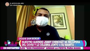 """Jimmy Chinchay reaparece en TV tras vencer al COVID-19: """"Estoy bien, recuperando la voz"""" (VIDEO)"""
