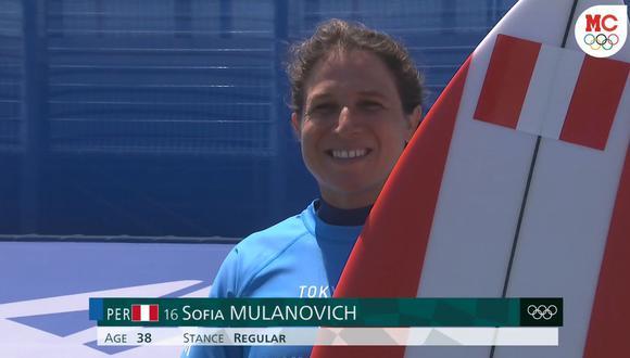 Sofía Mulanovich quedó en tercer lugar y pasa a la tercera ronda en Tokio 2020. (Foto: Captura Marca Claro)