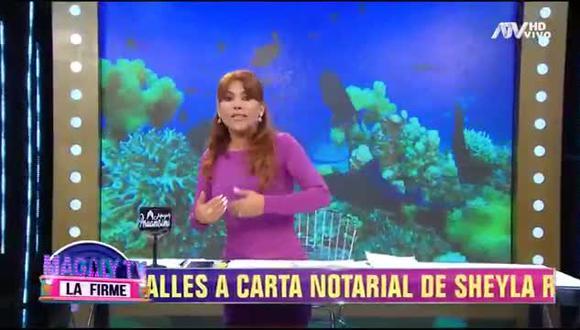 Magaly Medina responde a la demanda de Sheyla Rojas. (Fuente: ATV)