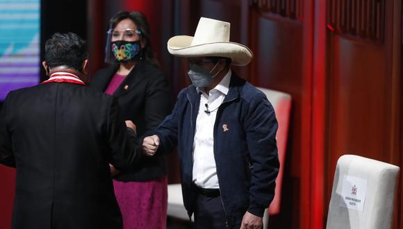 El JNE proclamó la victoria de Pedro Castillo, candidato presidencial de Perú Libre, la noche del lunes 19 de julio; y este viernes 23 recibió la credencial. (Fotos: César Campos / @photo.gec).