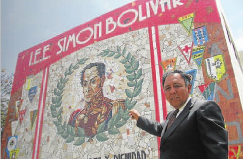 El muro artístico de Simón Bolívar