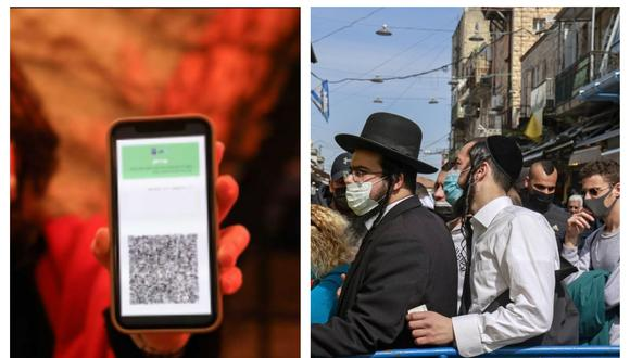 Israel retorna poco a poco a la normalidad gracias a su capacidad de vacunación. Collage: AFP/RTVE