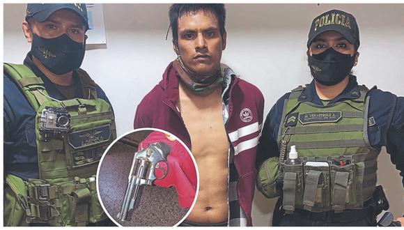 Purgó prisión por homicidio. Es intervenido cuando caminaba por la calle América con Pedro Cieza de León.