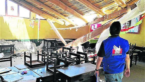 Municipio de Paracas demolerá el techo colapsado de colegio