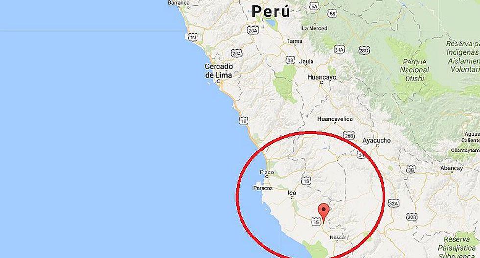 Ica: sismo de magnitud 4.2 se registró esta mañana en Palpa