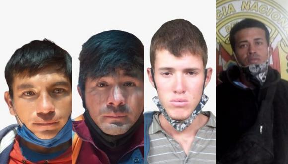Picias detienen a 4 hombres por robo de dos celulares en Arequipa