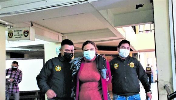 Sospechosa permanece detenida mientras se hacen las investigaciones. (Foto: Difusión)