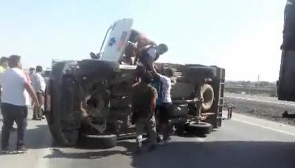 Accidente (Foto: Captura de video de Fernando Zavala)