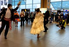 Con danzas típicas celebran aniversario patrio en el aeropuerto Jorge Chávez (VIDEO)