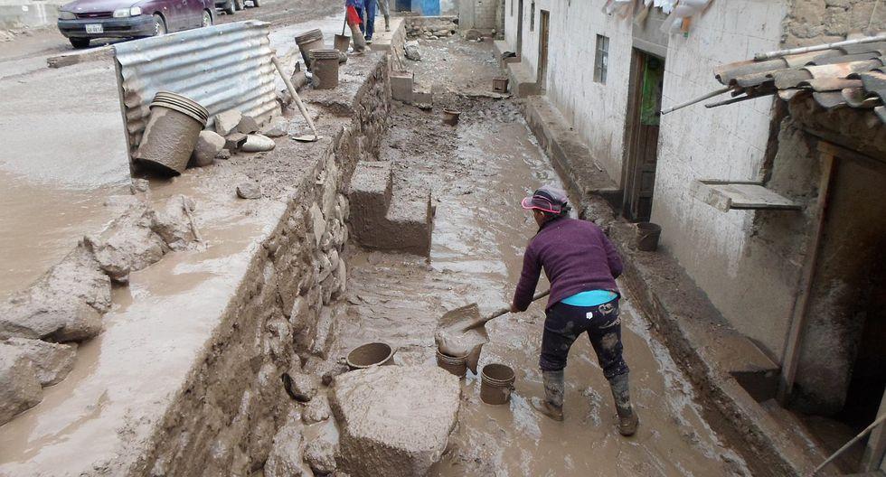 Huaico deja viviendas inundadas en pequeño poblado de Apurímac