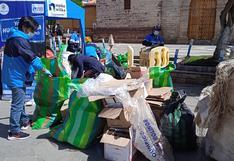 Huancavelica: Juntan casi una tonelada de material reciclable