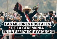 Disfruta de las mejores postales de la ceremonia simbólica en la pampa de Ayacucho