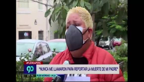 El jefe del servicio de emergencias del hospital Rebagliati afirma que sí se contactaron con la hija del paciente.