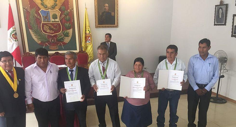 Juramentaron a alcaldes de centros poblados de Caplina y de Vilavilani