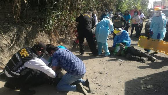 Accidente se suscitó en la intersección de la avenida Jorge Basadre y el Pasaje Las Palmeras. (Foto: Difusión)