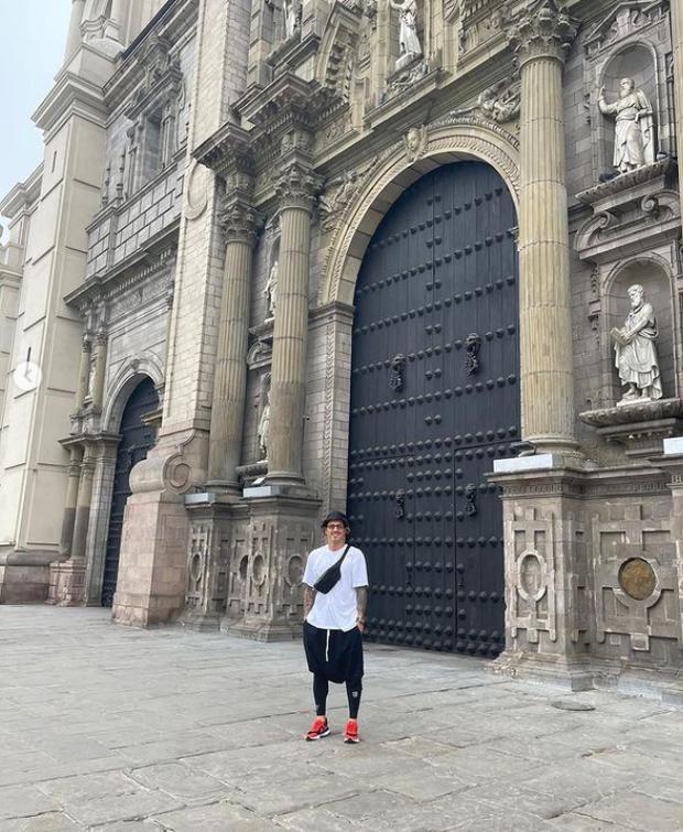 Lapadula en las calles de Lima (Foto: Instagram)