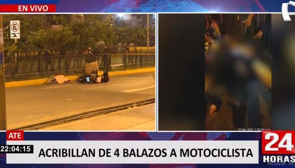 El crimen del prestamista Rolando Michael Salinas se perpetró en el cruce de las avenidas Prolongación Javier Prado y Metropolitana. (Foto: 24 Horas)