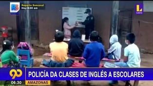 Amazonas: Policía brinda clases gratuitas de inglés a escolares