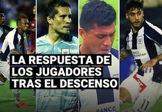 Alianza Lima: la respuesta de los jugadores blanquiazules tras descender a la Liga 2