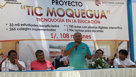 Fiscalía cita a gobernador de Moquegua por retraso en proyecto TIC