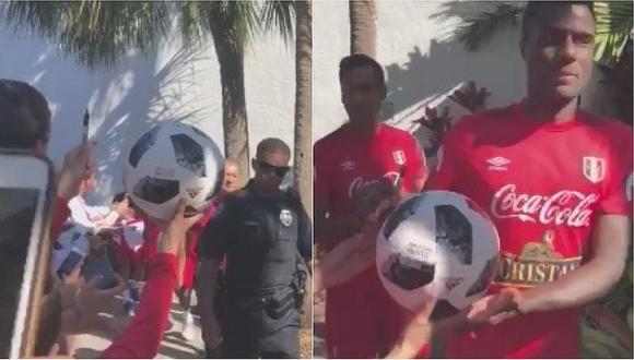 Christian Ramos generó confusión en niño a la hora de firmar autógrafo (VIDEO)