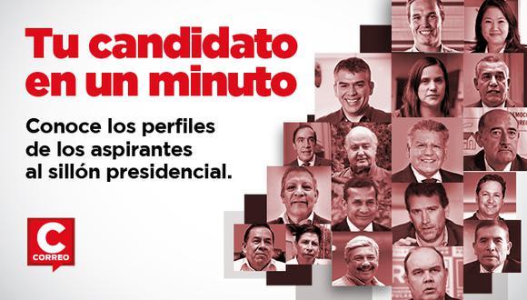 Podrás conocer a cada candidato presidencial en un minuto.