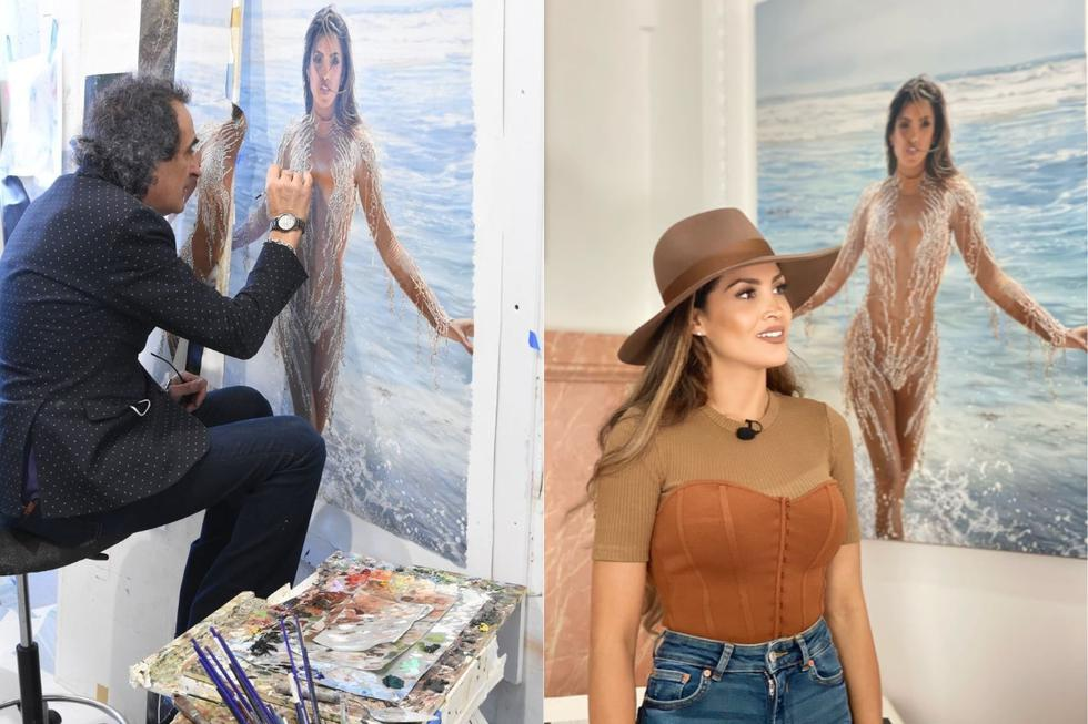 La cantante peruana fue retratada por el artista israelí y compartió el resultado en redes sociales. (Foto: @micheillesoifer8).