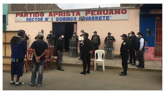 Municipio desaloja local del Apra en Trujillo