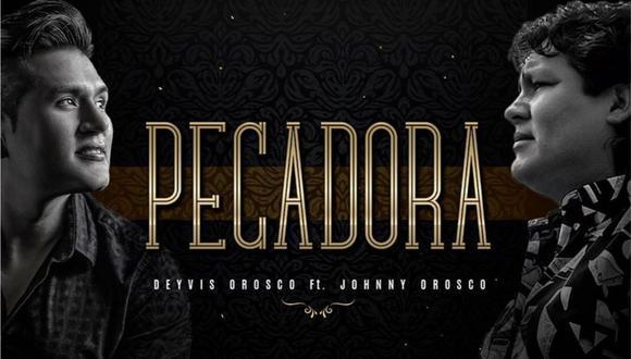 """Deyvis Orosco estrenó una nueva versión de """"Pecadora"""" con la voz de su padre Johnny Orosco. (Foto: Captura)"""