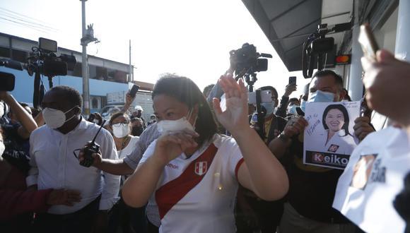 La candidata de Fuerza Popular llegó a la ciudad de Chota en Cajamarca a previas horas de su encuentro con su oponente Pedro Castillo de Perú Libre. (Foto: Referencial/Hugo Pérez/GEC)