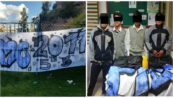 Cusco: Escolares son captados libando en la vía pública
