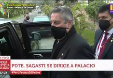 Francisco Sagasti se dirige a Palacio de Gobierno en últimas horas como presidente (VIDEO)