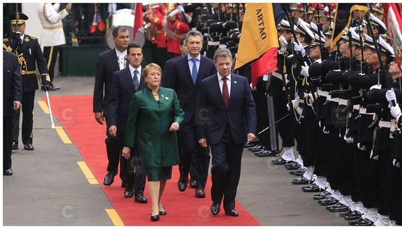 Presidentes extranjeros llegaron al Congreso para investidura de PPK [VIDEO]