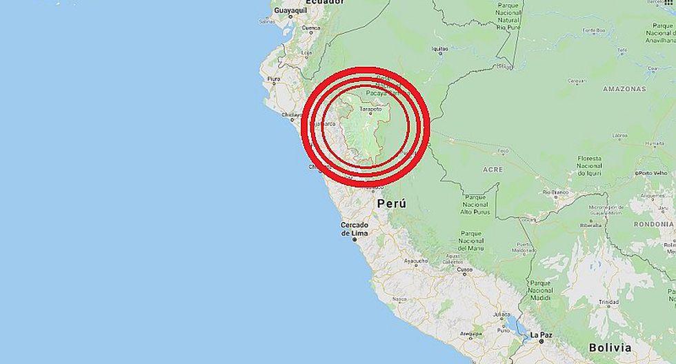 San Martín: sismo de magnitud 4.2 se registró en Tocache