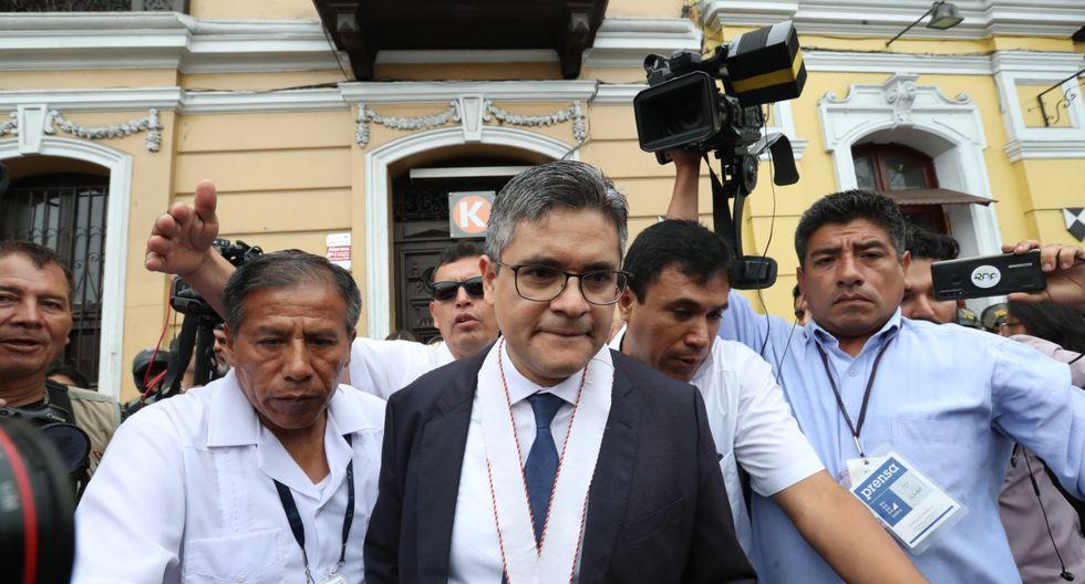 José Domingo Pérez durante diligencia fiscal. (Foto: Rolly Reyna)