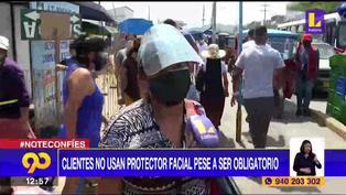 """""""Después nos quejamos que tantos estamos muriendo"""": Señora molesta ante incumplimiento de protectores faciales en mercados (VIDEO)"""