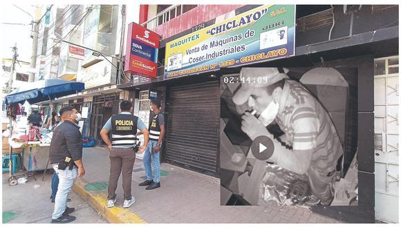 Escurridizo ladrón ingresó por la parte superior de local comercial ubicado cerca del mercado Modelo de Chiclayo.
