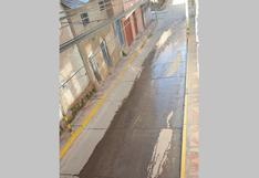 Calles congeladas con hielo provocan accidentes en Juli
