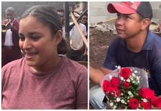 """Albañil sorprende a su amada y le pide matrimonio: """"Me quiero casar, pero no tengo plata"""" (VIDEO)"""