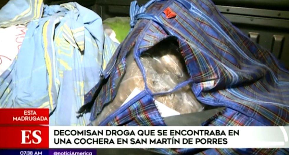 Durante la operación se halló un total de 91 paquetes de marihuana de diverso peso. (Foto captura: América Noticias)