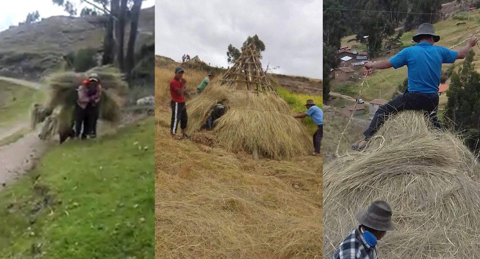 Ayacucho: Pobladores fabrican chozas de ichu para que retornantes cumplan cuarentena. (Foto: Facebook)