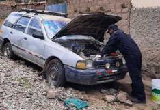 Huancavelica: Policías encuentran y detienen vehículo clonado