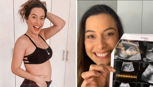 Natalia Salas revela emocionada el sexo de su bebé. (Foto: Instagram @nataliasalasz)