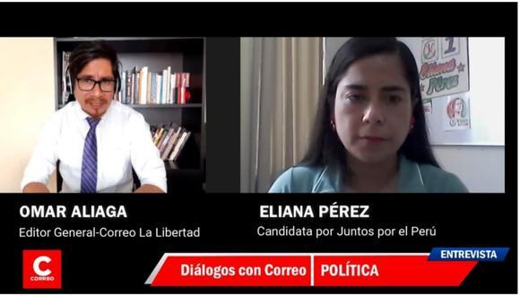 Candidata al Congreso por Juntos por el Perú señala que lucharán por los derechos de todas las mujeres. Además, que los pobladores de la sierra liberteña y las provincias de Chepén y Pacasmayo también necesitan tener representatividad.