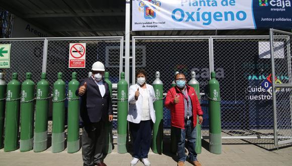 Planta de oxígeno del Hospital Municipal de Arequipa duplica producción diaria  Foto: Soledad Morales