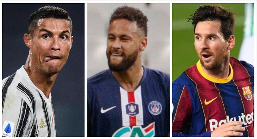 El equipo del año 2020 de la UEFA. (Foto: AFP)